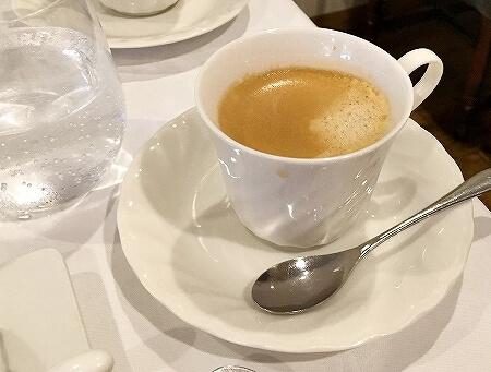 京橋 宝町 おすすめ レストラン・サカキ フレンチ 土曜 ランチ 3500円 コーヒー