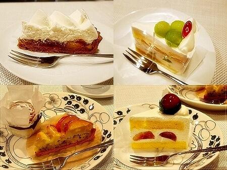 アラボンヌー バナナタルト メロンのショートケーキ ぶどうのショートケーキ 金時芋のタルト
