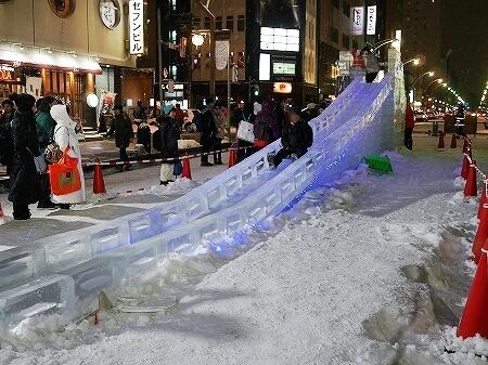 2019年 さっぽろ雪まつり 札幌 雪像 氷のすべり台
