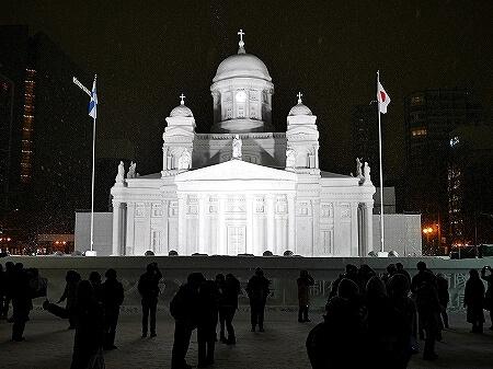 2019年 さっぽろ雪まつり 札幌 雪像 ヘルシンキ大聖堂