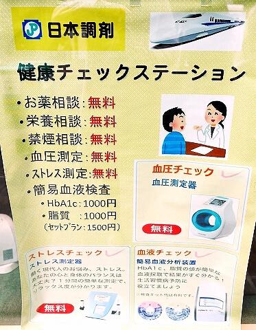 コレステロール 測定 健康チェックステーション 血液検査 日本調剤 銀座泰明薬局 脂質 HbA1C
