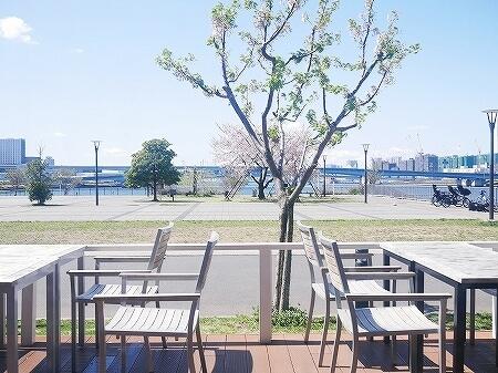 ららぽーと豊洲 ロンハーマンカフェ RHCカフェ RHC CAFE  外の席 景色