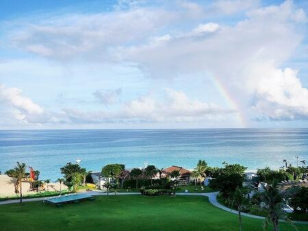 宮古島旅行記 宮古島東急ホテル&リゾーツ オーシャンウィング 景色 眺め 眺望 海 虹