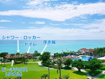 宮古島旅行記 宮古島東急ホテル&リゾーツ ビーチ ビーチハウス 浮き輪