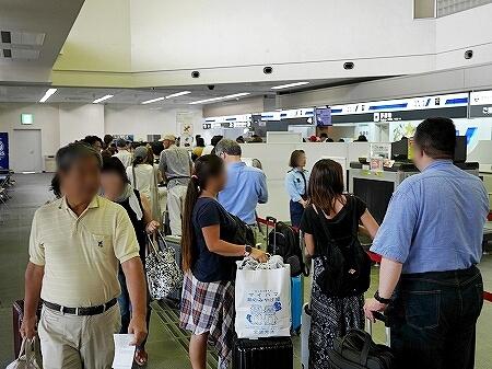 宮古島旅行記 宮古空港 1時間前着 混雑 混み具合 宮古島空港 チェックイン 行列