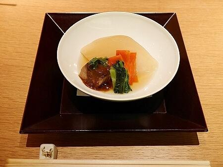 銀座 懐食みちば 道場六三郎 ディナー おすすめレストラン メニュー 夜席 むつみコース 煮物
