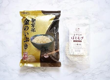 ファンケル 発芽米 発芽玄米 金のいぶき おすすめ 口コミ ブログ 感想 レビュー はとむぎ とやまのはとむぎ ハトムギ 富山