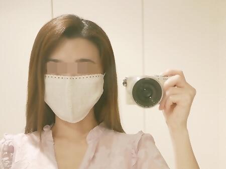 洗えるマスク 花柄レース厚手コットンマスク ファッションマスク 着画 レースマスク 布マスク かわいい おすすめ