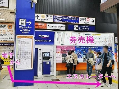 東武鉄道浅草駅 おすすめ待ち合わせ場所 乗り場の場所 待合室 正面改札口 行き方 乗り方 構内マップ 地図 乗車券 券売機