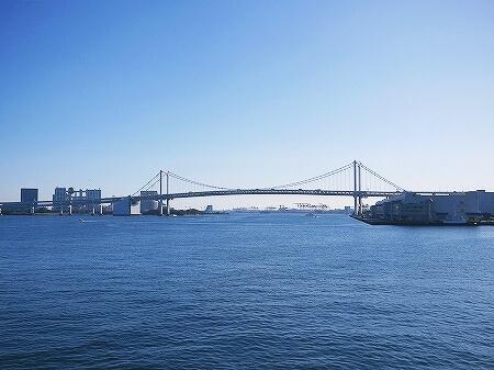 シンフォニークルーズのランチクルーズ 船内の様子 東京湾 展望クロワッサンセット ブログ 口コミ レビュー コロナ後 モデルナ 景色 レインボーブリッジ