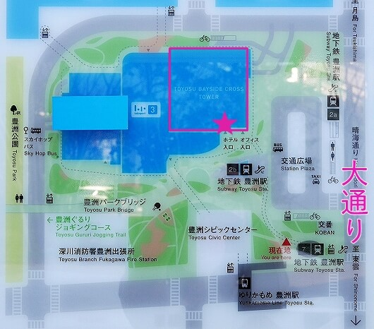 三井ガーデンホテル豊洲ベイサイドクロス宿泊記 ブログ 口コミ レビュー 感想 行き方 入り口 地図 マップ