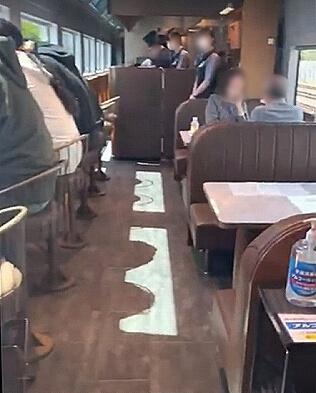 サフィール踊り子 カフェテリア 食堂車 車内 ブログ 口コミ レビュー 乗車記 伊豆熱川旅行記 画像 写真