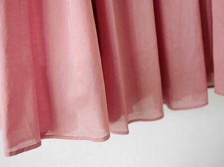 着画 The Virgnia コットンローンフレアスカート くすみピンク ザ ヴァージニア アプリコットピンク ブログ 口コミ レビュー