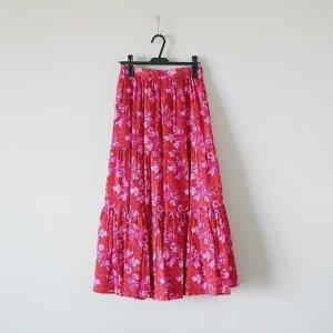 着画【SARA MALLIKA/サラマリカ】BIG FLOWER スカート◆ ブログ 写真 画像 赤 レッド マキシスカート ロングスカート おすすめ リゾート