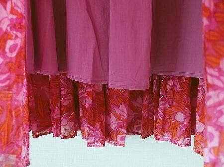 着画【SARA MALLIKA/サラマリカ】BIG FLOWER スカート◆ ブログ IENA別注 イエナ ピンク 写真 画像 赤 レッド マキシスカート ロングスカート おすすめ リゾート