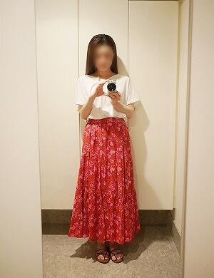 着画【SARA MALLIKA/サラマリカ】BIG FLOWER スカート◆ ブログ 写真 IENA別注 イエナ ピンク 画像 赤 レッド マキシスカート ロングスカート おすすめ リゾート