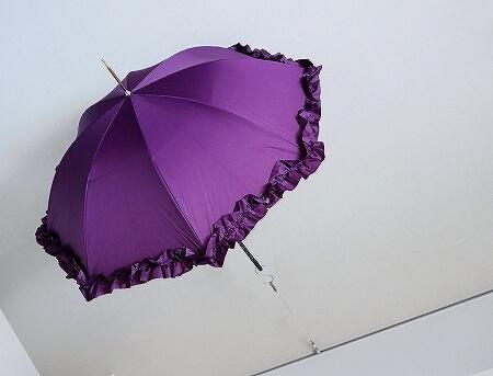 HANWAY Ginette 2016 ハンウェイ ジュネ フリル長傘 パープル ブログ 口コミ レビュー 写真 紫
